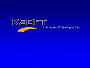 Information Technologies Inc Information Technologies Inc Vision Statement