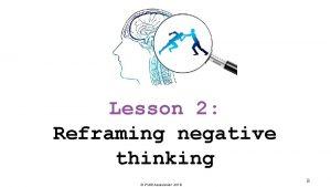 Lesson 2 Reframing negative thinking PSHE Association 2018