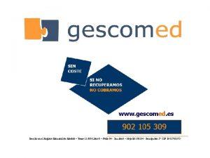www gescomed es Inscrita en el Registro Mercantil
