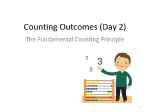 Counting Outcomes Day 2 The Fundamental Counting Principle