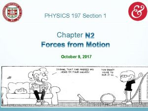 PHYSICS 197 Section 1 Chapter October 9 2017