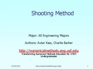 Shooting Method Major All Engineering Majors Authors Autar