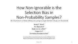 How NonIgnorable is the Selection Bias in NonProbability