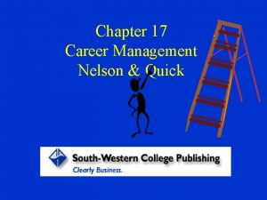 Chapter 17 Career Management Nelson Quick Why Understand