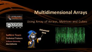 Multidimensional Arrays Using Array of Arrays Matrices and