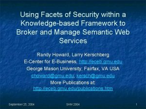 Using Facets of Security within a Knowledgebased Framework