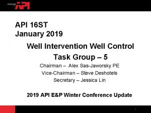 API 16 ST January 2019 Well Intervention Well