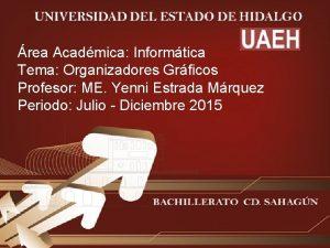 rea Acadmica Informtica Tema Organizadores Grficos Profesor ME