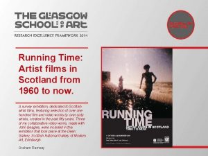 Running Time Artist films in Scotland from 1960