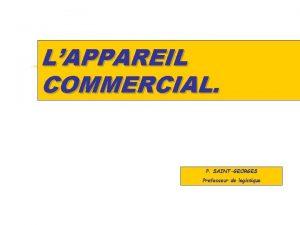 LAPPAREIL COMMERCIAL P SAINTGEORGES Professeur de logistique z