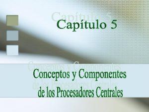 CONCEPTOS DE ALMACENAMIENTO PRIMARIO Seccin de Control Seccin