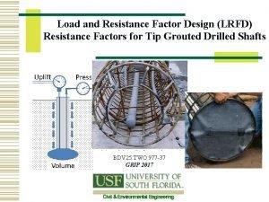 Load and Resistance Factor Design LRFD Resistance Factors