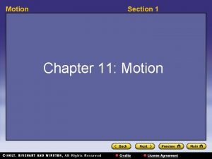 Motion Section 1 Chapter 11 Motion Motion Section
