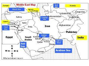 Middle East Map Europe Black Sea Aral Sea
