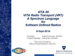 VITA 49 VITA Radio Transport VRT A Spectrum