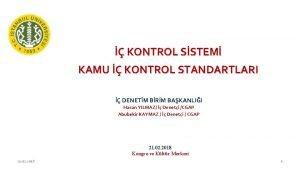 KONTROL SSTEM KAMU KONTROL STANDARTLARI DENETM BRM BAKANLII