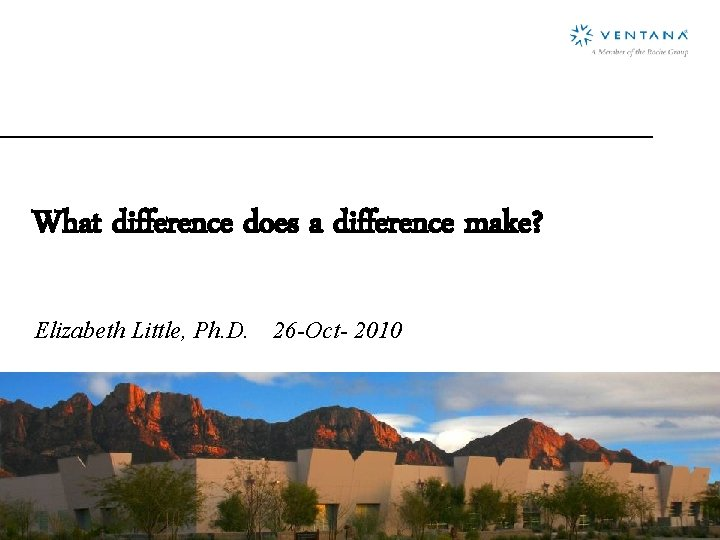 What difference does a difference make Elizabeth Little