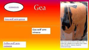 COMMENTO Gea nell arte greca Gea nell arte
