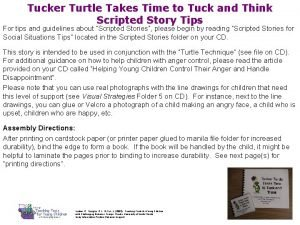 Tucker Turtle Takes Time to Tuck and Think