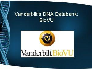 Vanderbilts DNA Databank Bio VU Personalized Medicine Integration