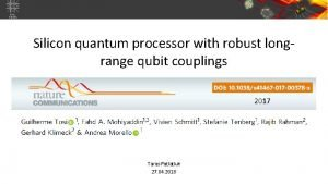 Silicon quantum processor with robust longrange qubit couplings
