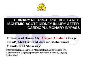 URINARY NETRIN1 PREDICT EARLY ISCHEMIC ACUTE KIDNEY INJURY