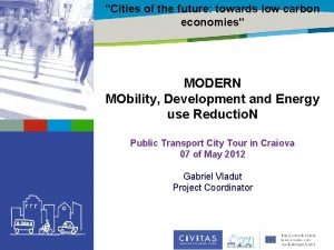 Cities of the future towards low carbon Title