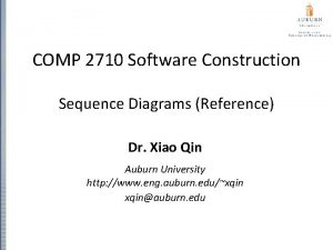 COMP 2710 Software Construction Sequence Diagrams Reference Dr