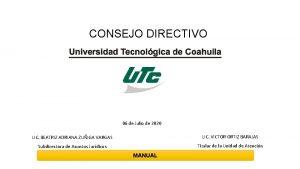 CONSEJO DIRECTIVO 06 de Julio de 2020 LIC