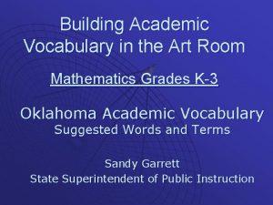 Building Academic Vocabulary in the Art Room Mathematics