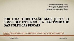 Wanda Cludia Galluzzi Nunes Jorge Eduardo Salgado Salles