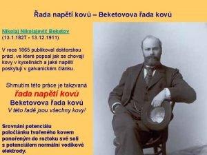 ada napt kov Beketovova ada kov Nikolajevi Beketov
