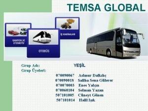 TEMSA GLOBAL Grup Ad Grup yeleri YEL 070090067