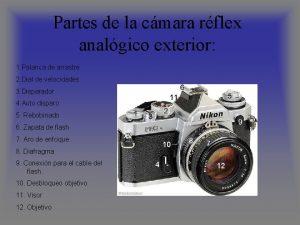 Partes de la cmara rflex analgico exterior 1