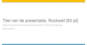 Titel van de presentatie Rockwell 60 pt Gratis