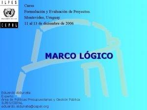 Curso Formulacin y Evaluacin de Proyectos Montevideo Uruguay