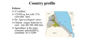Livestock Population of Eritrea cattle Sheep Goats Poultry