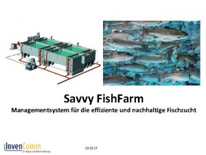 Savvy Fish Farm Managementsystem fr die effiziente und