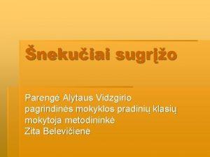 nekuiai sugro Pareng Alytaus Vidzgirio pagrindins mokyklos pradini