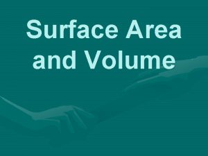 Surface Area and Volume Surface Area of Prisms