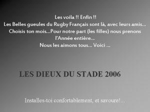Les voila Enfin Les Belles gueules du Rugby