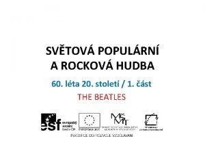 SVTOV POPULRN A ROCKOV HUDBA 60 lta 20