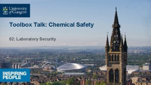 Toolbox Talk Chemical Safety 02 Laboratory Security Laboratory