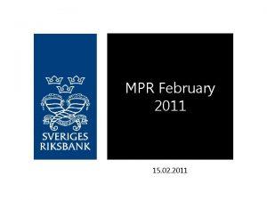 MPR February 2011 15 02 2011 Revised 2011