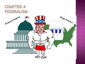 Federalism powers divided between federal and local level