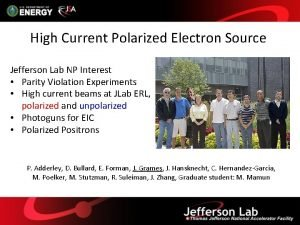 High Current Polarized Electron Source Jefferson Lab NP