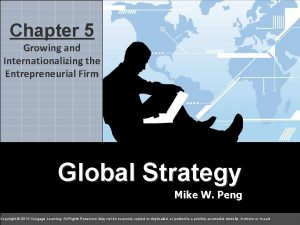 5 Chapter 5 chapter Growing and Internationalizing the