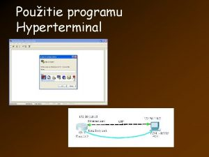 Pouitie programu Hyperterminal el programu Hyperterminal Sli na