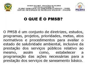 ESTADO DO PAR MUNICPIO DE PIARRA CNPJ 01