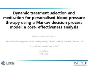 Dynamic treatment selection and medication for personalised blood
